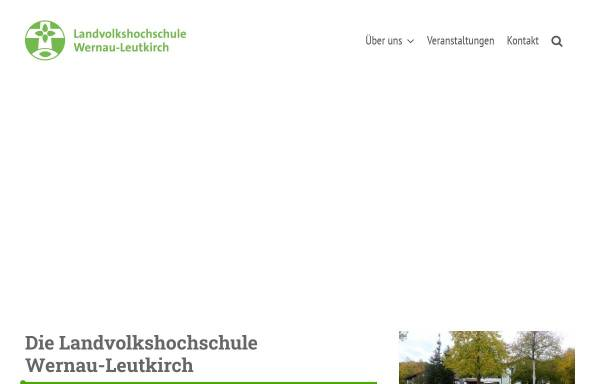 Vorschau von www.lvhs-wernau-leutkirch.de, Landvolkshochschule Wernau-Leutkirch e. V