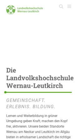 Vorschau der mobilen Webseite www.lvhs-wernau-leutkirch.de, Landvolkshochschule Wernau-Leutkirch e. V