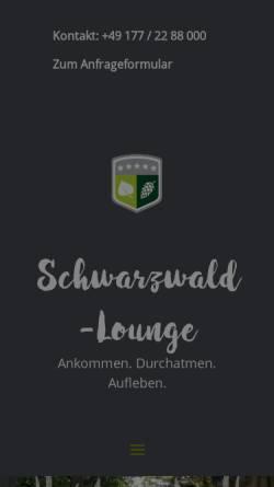 Vorschau der mobilen Webseite www.schwarzwald-lounge.de, Schwarzwald-Lounge Ferienwohnung