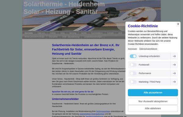 Vorschau von sthheidenheim.jimdo.com, Solarthermie-Heidenheim an der Brenz e.K., Lothar Scheu