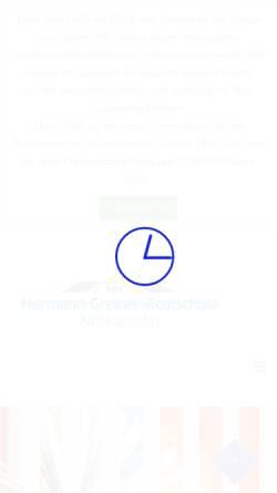 Vorschau der mobilen Webseite cms.hgr-nsu.de, Hermann-Greiner-Realschule