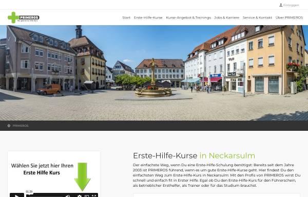 Vorschau von www.primeros.de, Erste Hilfe Ausbildung - Primeros Qualification GmbH