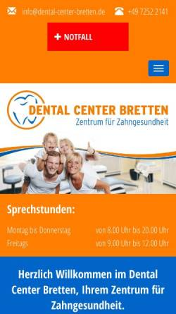 Vorschau der mobilen Webseite www.dental-center-bretten.de, Dental Center Bretten