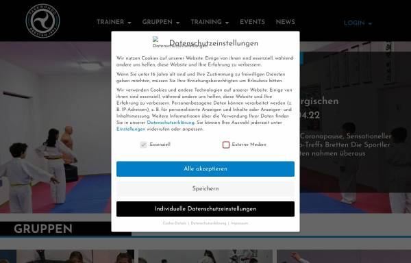 Vorschau von taekwondo-bretten.de, Taekwondo Bretten