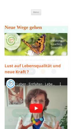 Vorschau der mobilen Webseite leben-entfalten-ettlingen.de, Leben entfalten, Leben gestalten