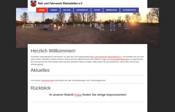 Vorschau von www.rfv-rheinstetten.de, Reit- und Fahrverein Rheinstetten e.V.