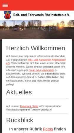 Vorschau der mobilen Webseite www.rfv-rheinstetten.de, Reit- und Fahrverein Rheinstetten e.V.