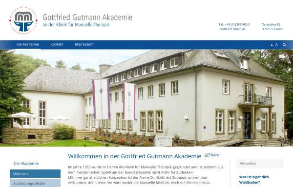 Vorschau von www.ausbildunggutmannakademie.de, Gottfried Gutmann Akademie