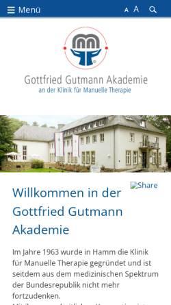 Vorschau der mobilen Webseite www.ausbildunggutmannakademie.de, Gottfried Gutmann Akademie