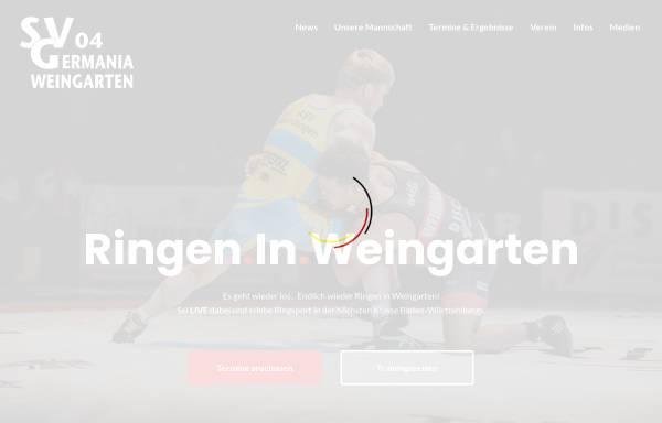 Vorschau von www.svgermania04.de, SV Germania Weingarten e.V.