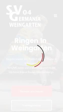 Vorschau der mobilen Webseite www.svgermania04.de, SV Germania Weingarten e.V.