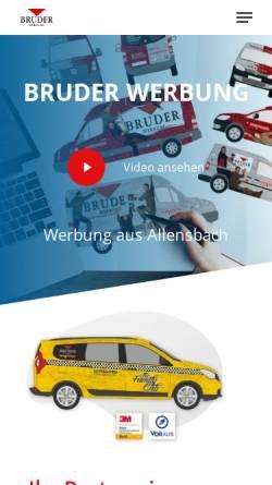 Vorschau der mobilen Webseite bruder-werbung.de, Bruder Werbung