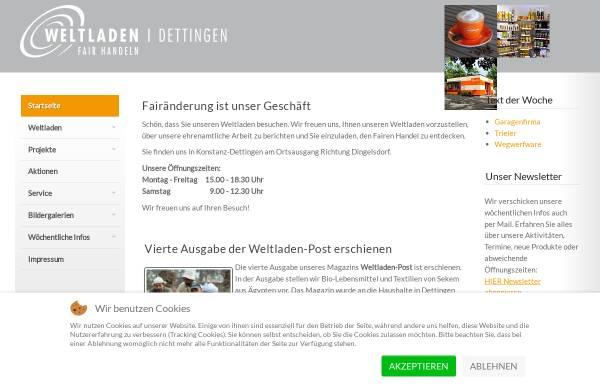 Vorschau von www.weltladen-dettingen.de, Weltladen Dettingen