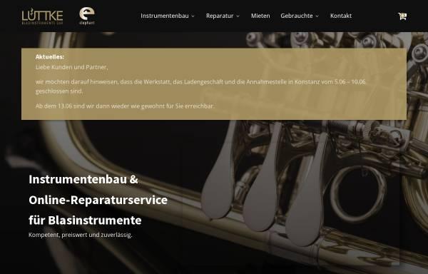 Vorschau von luettke-blasinstrumente.de, Lüttke Blasinstrumentenbau