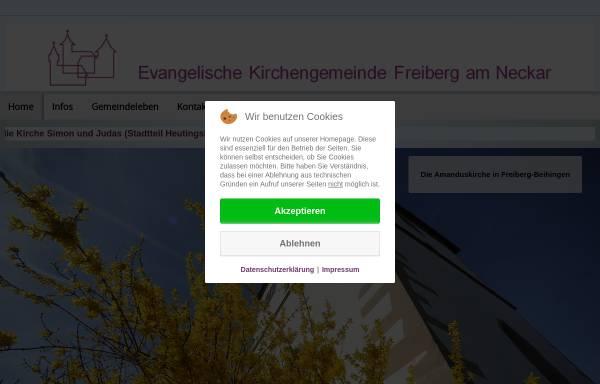 Vorschau von www.amandus-gemeinde.de, Ev. Kirchengemeinde Beihingen