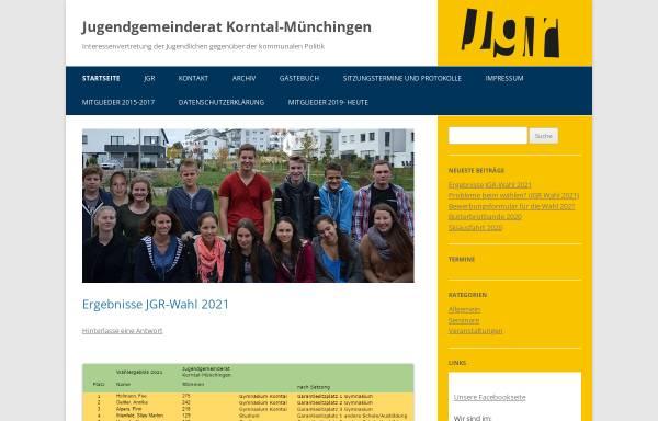 Vorschau von jgr-korntal-muenchingen.de, Jugendgemeinderat Korntal-Münchingen