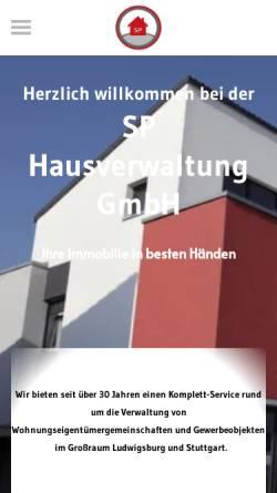 Vorschau der mobilen Webseite www.sphausverwaltung.de, SP Hausverwaltung GmbH