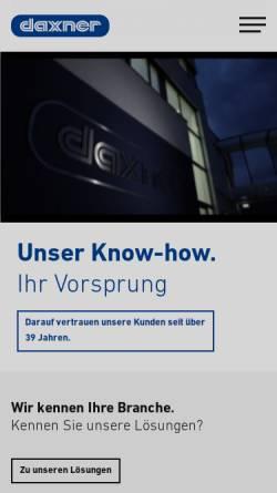 Vorschau der mobilen Webseite www.daxner.com, Daxner Germany GmbH