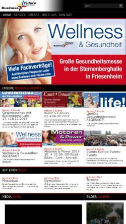Vorschau der mobilen Webseite business-and-future.com, Business & Future Messen & Events