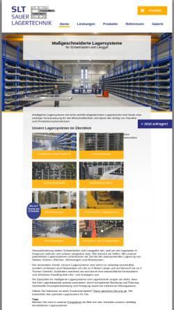 Vorschau der mobilen Webseite www.sauerlagertechnik.de, Sauer Lagertechnik GmbH