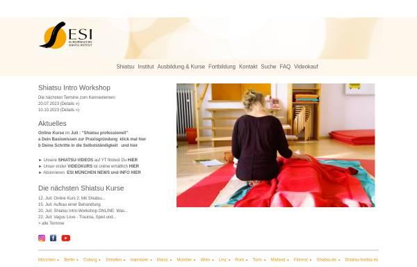 Vorschau von www.shiatsu.de, ESI-Deutschland - Europäisches Shiatsu Institut