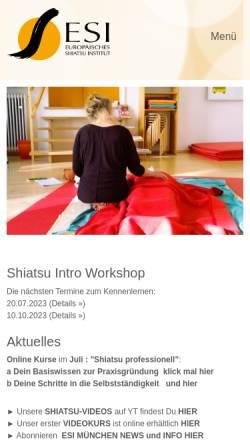 Vorschau der mobilen Webseite www.shiatsu.de, ESI-Deutschland - Europäisches Shiatsu Institut