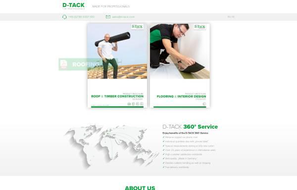 Vorschau von www.d-tack.com, D-TACK GmbH