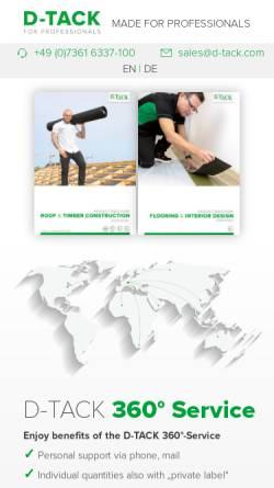 Vorschau der mobilen Webseite www.d-tack.com, D-TACK GmbH