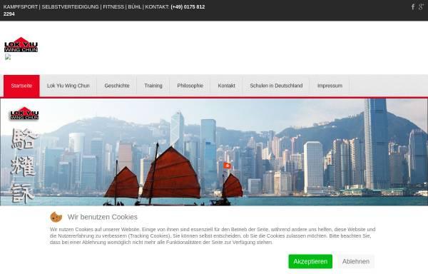 Vorschau von www.wing-chun-kung-fu.com, Lok Yiu Wing Chun Kung Fu Schule