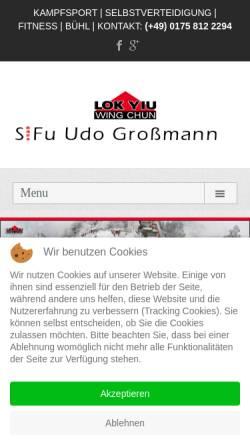 Vorschau der mobilen Webseite www.wing-chun-kung-fu.com, Lok Yiu Wing Chun Kung Fu Schule