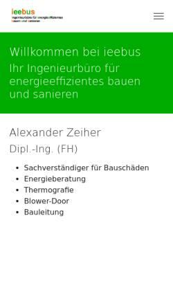 Vorschau der mobilen Webseite www.ieebus.de, Ieebus, Dipl. Ing. (FH) Alexander Zeiher