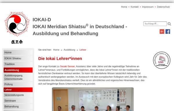 Vorschau von www.iokai-shiatsu.de, Iokai Meridian Shiatsu