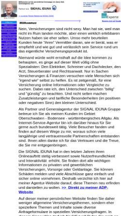 Vorschau der mobilen Webseite www.agenturhess.de, Henry Hess - Generalagentur der SIGNAL IDUNA Gruppe