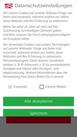 Vorschau der mobilen Webseite www.mize-zeltverleih.de, Mize e.K.