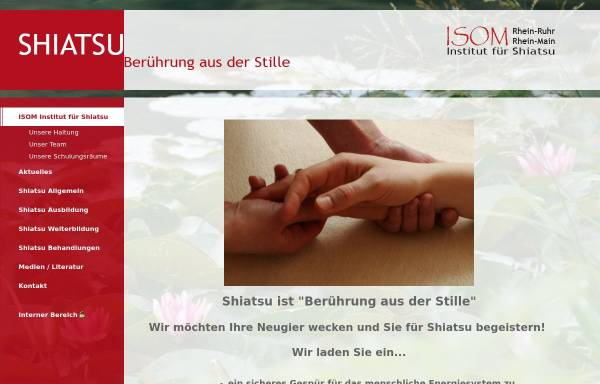 Vorschau von www.shiatsu-institut.de, ISOM - Institut für Shiatsu und Orientalmedizin