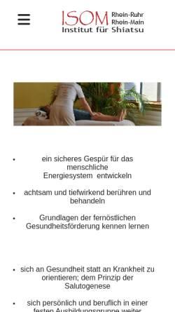 Vorschau der mobilen Webseite www.shiatsu-institut.de, ISOM - Institut für Shiatsu und Orientalmedizin