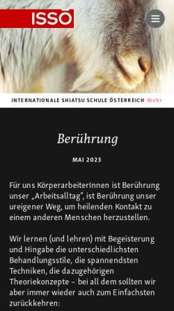 Vorschau der mobilen Webseite shiatsu.at, ISSÖ - Internationale Shiatsu Schule Österreich