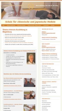 Vorschau der mobilen Webseite www.ausbildung-shiatsu.de, Schule für chinesische und japanische Medizin