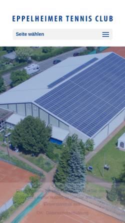 Vorschau der mobilen Webseite etc-eppelheim.de, Eppelheimer Tennisclub