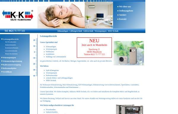 Vorschau von www.graf-klimaanlagen.de, K+K Kälte-Klimatechnik Christian Graf e.K.