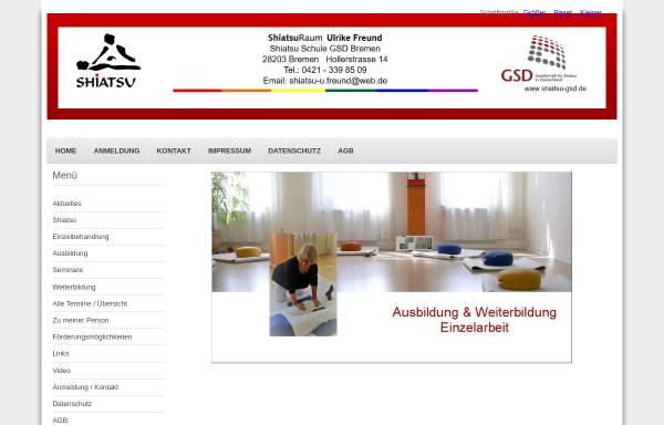 Vorschau von www.shiatsu-bremen.de, Shiatsu Ausbildung für Frauen