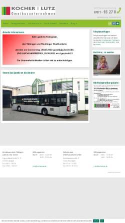 Vorschau der mobilen Webseite www.kocherlutz.de, Kocher|Lutz Reisen - Omnibusverkehr Tübingen Jakob Kocher GmbH