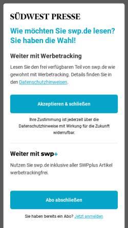 Vorschau der mobilen Webseite www.swp.de, Haller Tagblatt