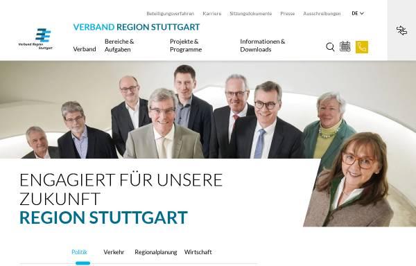 Vorschau von www.region-stuttgart.org, Verband Region Stuttgart