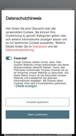 Vorschau der mobilen Webseite www.volleyball-baden.de, Badische Volleyball-Verbände