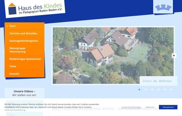 Vorschau von kindergarten-paedagogium.de, Kindergarten in Baden-Baden