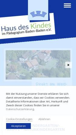 Vorschau der mobilen Webseite kindergarten-paedagogium.de, Kindergarten in Baden-Baden