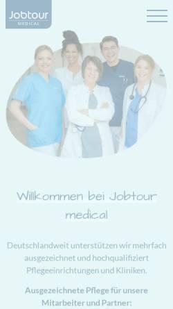 Vorschau der mobilen Webseite www.jobtour.de, Jobtour medical