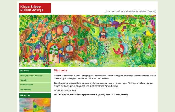 Vorschau von www.kinderkrippe-sieben-zwerge.de, Kinderkrippe Sieben Zwerge