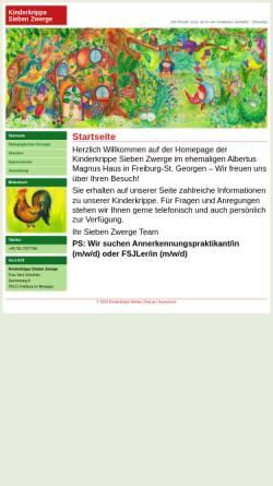Vorschau der mobilen Webseite www.kinderkrippe-sieben-zwerge.de, Kinderkrippe Sieben Zwerge